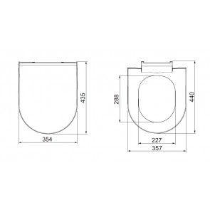 Set vas WC suspendat + bideu suspendat Bosa, ceramica