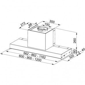 Hota incorporabila Franke Style Plus FST PLUS 608 X, inox satinat