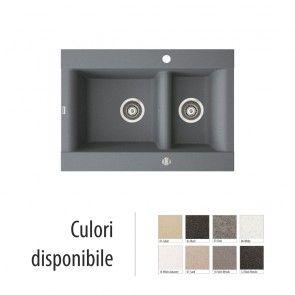 Chiuveta bucatarie granit compozit anticalcar 1,5 cuve VOGA / VANESSA II