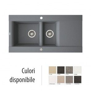 Chiuveta bucatarie granit compozit anticalcar 1,5 cuve si picurator VOGA / VANESSA I