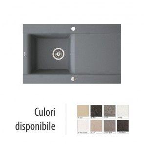 Chiuveta bucatarie granit compozit anticalcar 1 cuva si un picurator VOGA / VANESSA II