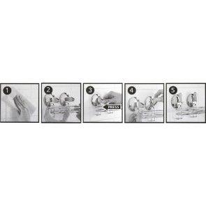 Cuier cromat pentru baie cu prindere fara gauri WIRE AWD02090339 (2 buc)