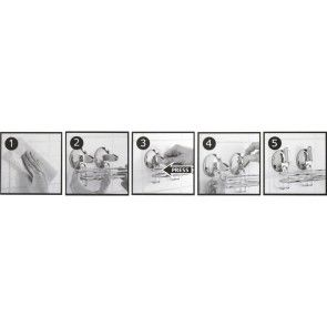 Etajera cromata pentru baie cu prindere fara gauri WIRE AWD02080340