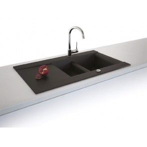 Chiuveta bucatarie granit compozit anticalcar 1,5 cuve si picurator VOGA / VANESSA