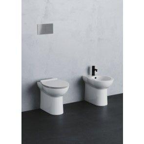 Set vas WC back to wall capac soft close + bideu Fast, ceramica