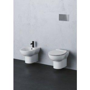 Set vas WC suspendat capac soft close + bideu suspendat Fast, ceramica