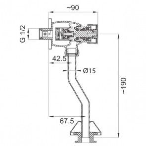 Baterie pisoar cu temporizare CasaBlanca TEMPO BTE12