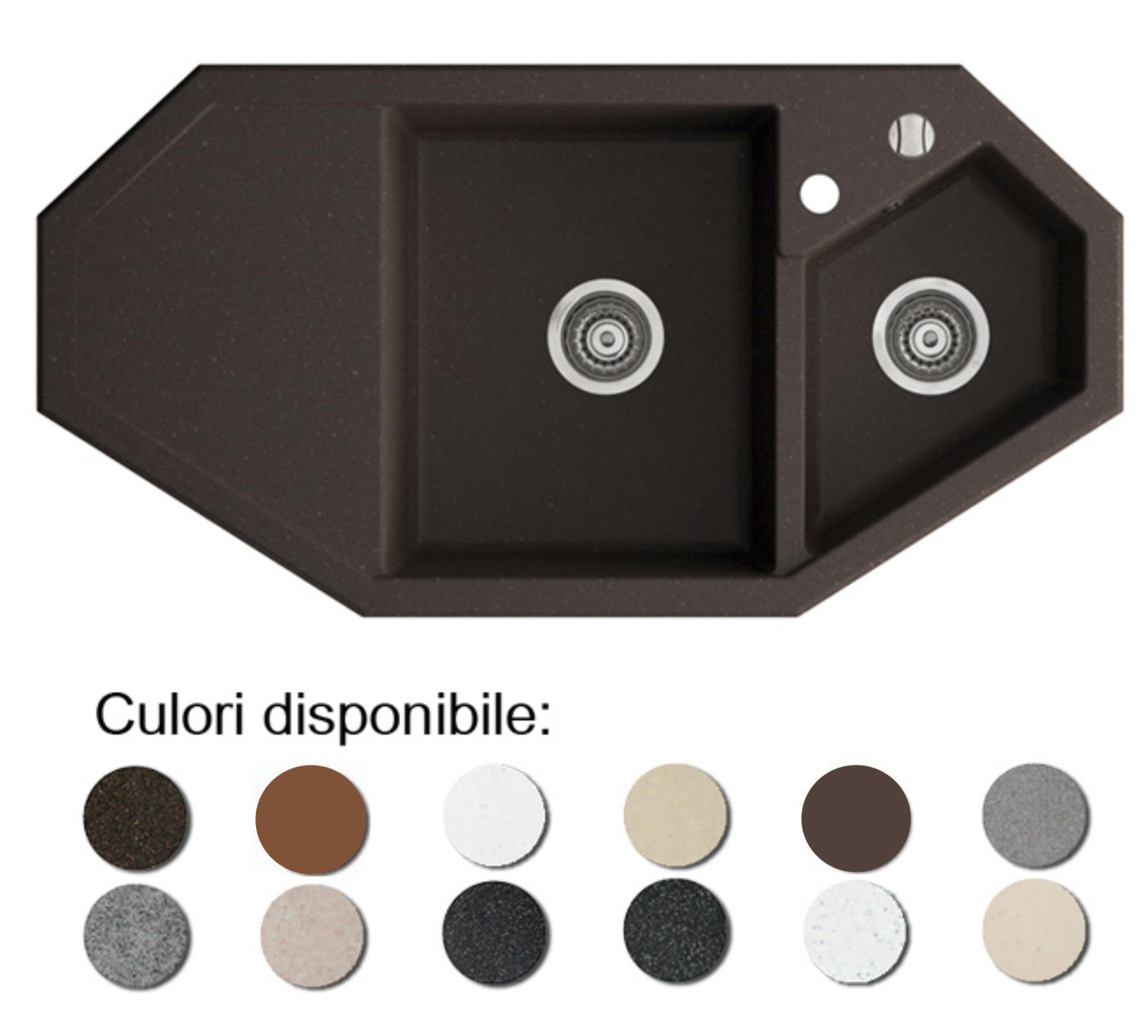 Chiuveta Bucatarie Granit Compozit Anticalcar Trapezoidala Cuve Picurator Poza