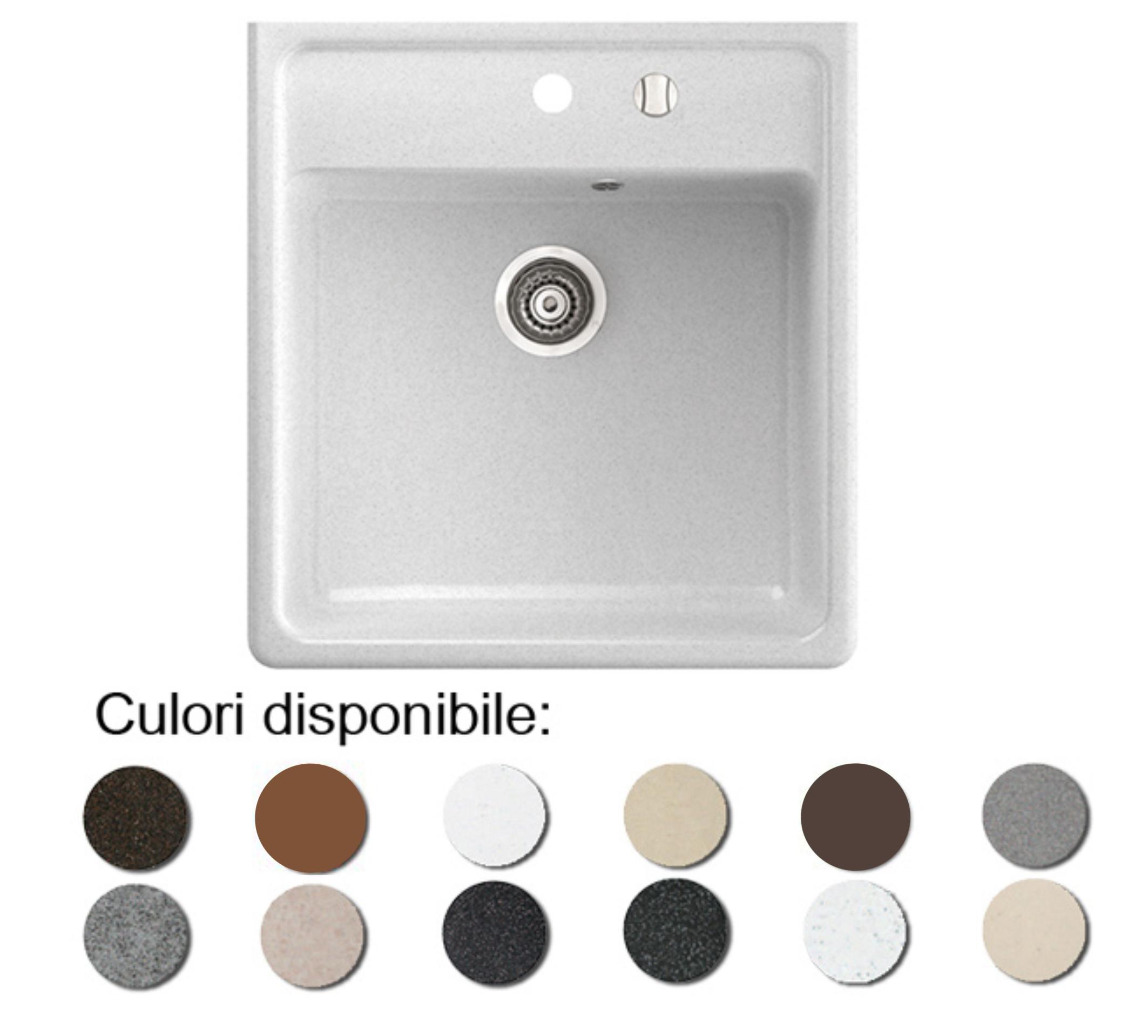 Chiuveta Bucatarie Granit Compozit Anticalcar Cuva Patrata - 6364