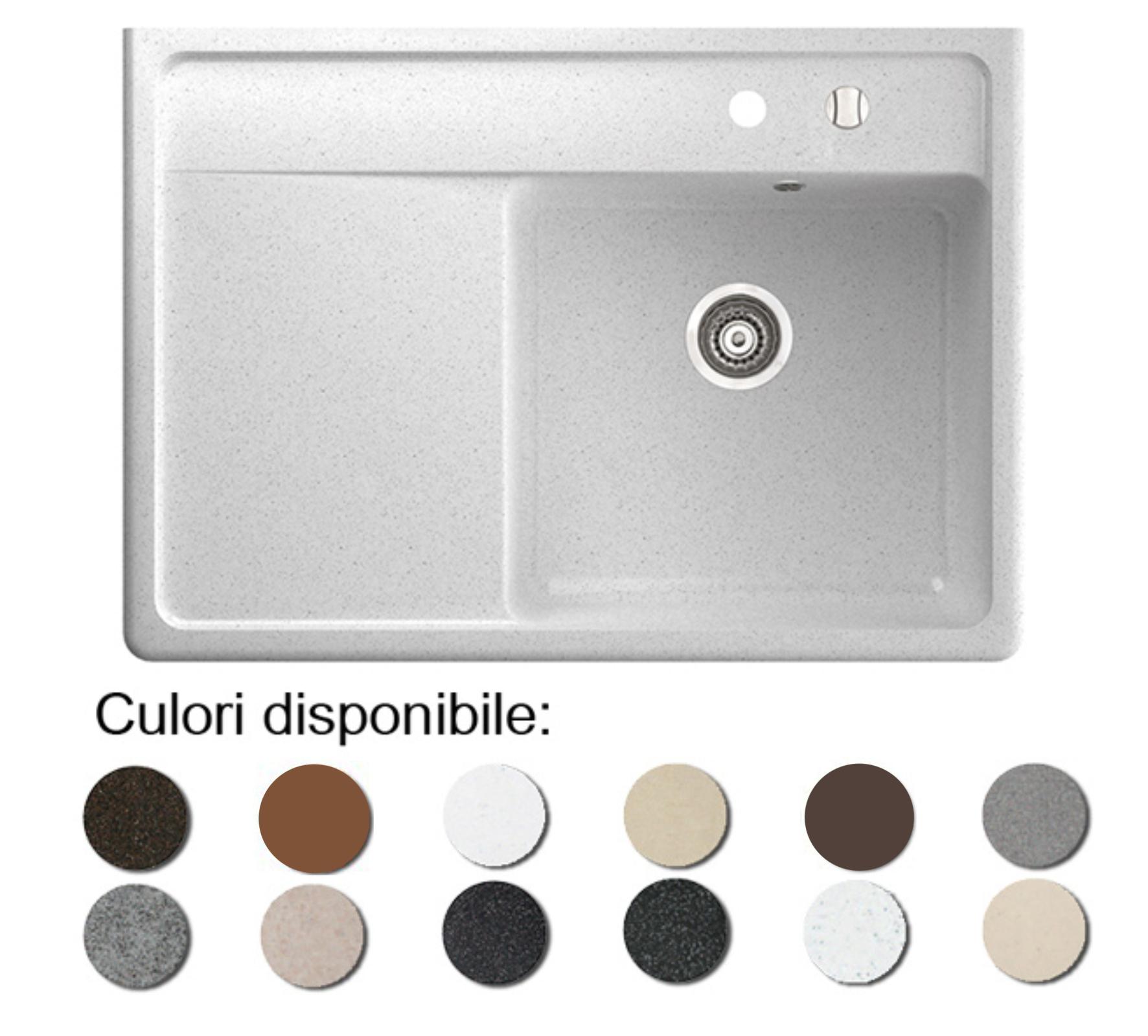 Chiuveta Bucatarie Granit Compozit Anticalcar Cuva Picurator - 5679