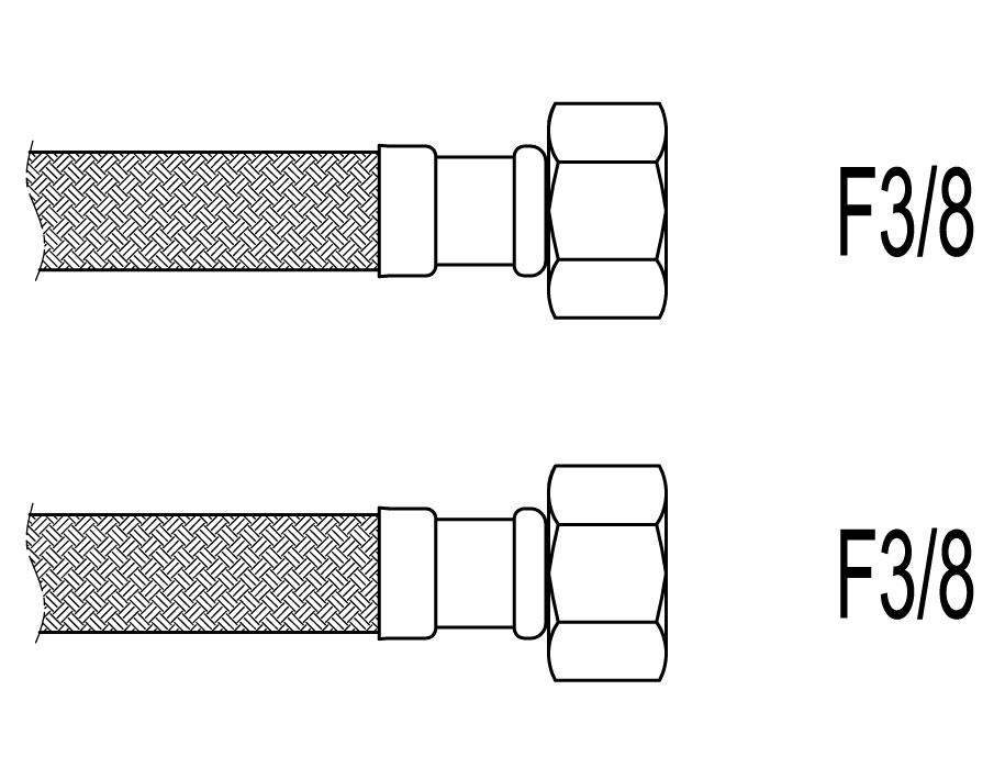 "Racord flexibil apa i-i, F3/8""x F3/8"", 100 cm Techman PWS98"