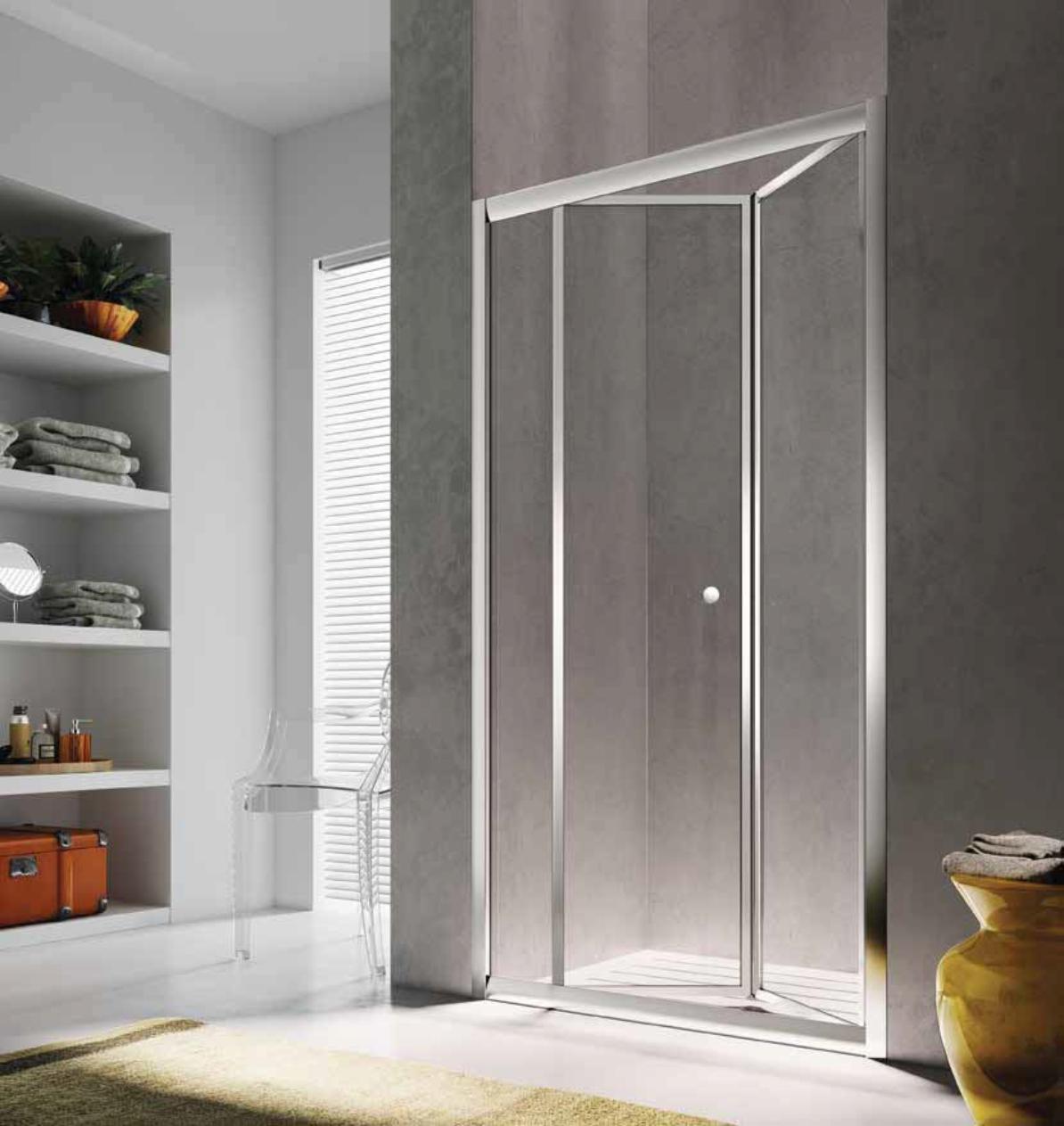 Sistem usa pliabila pentru dus in nisa Glass Isy IJ, 90cm