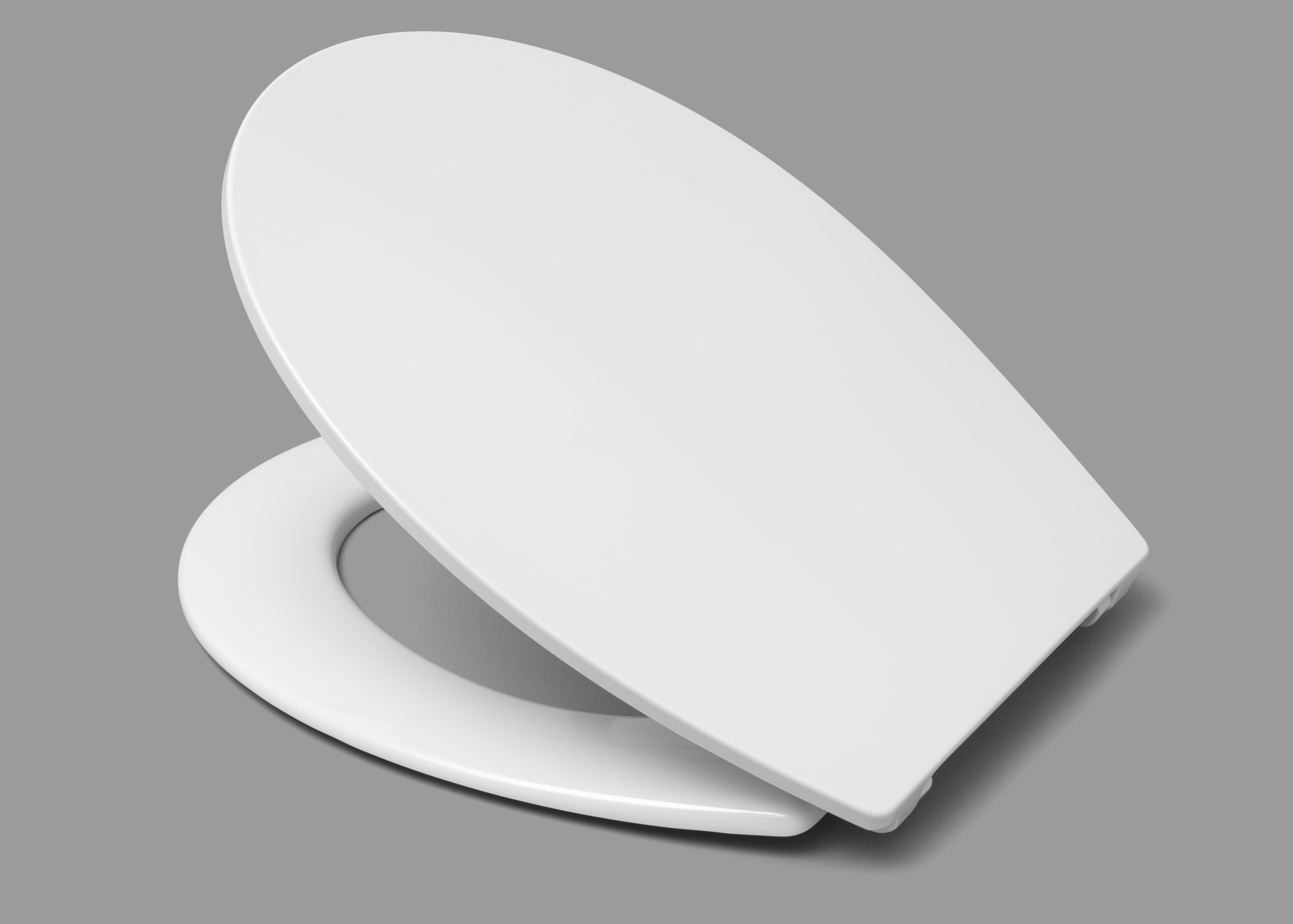 Capac WC HARO Duroplast REVO alb, sistem prindere inox FastFix