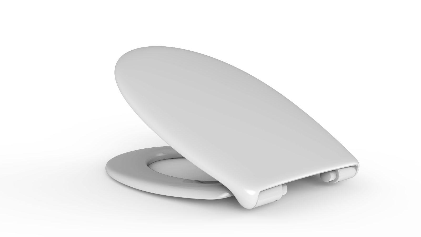 Capac WC HARO PERCA sistem inchidere lenta, detasabil, alb