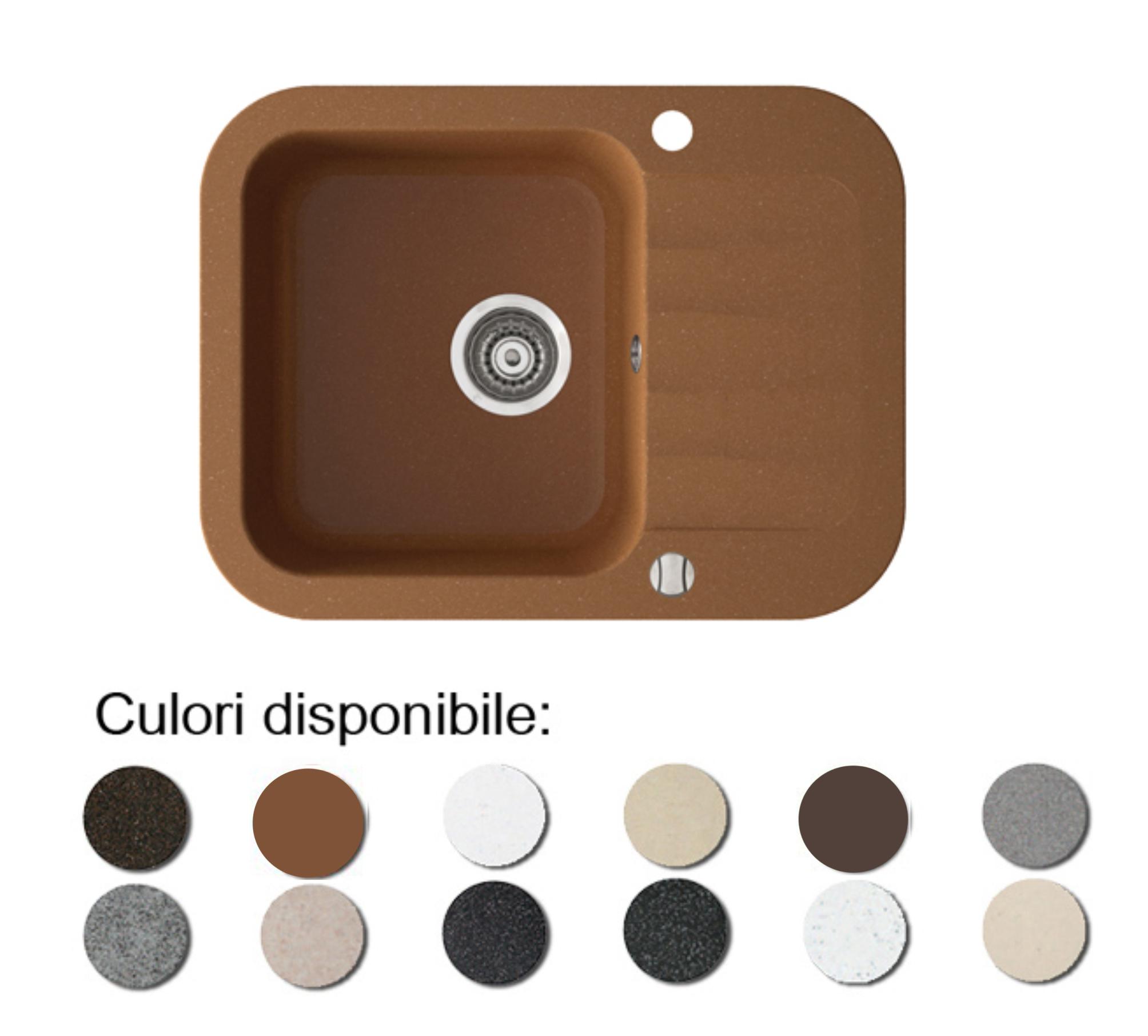 Chiuveta Bucatarie Granit Compozit Anticalcar Cuva Picurator Mic Imagine