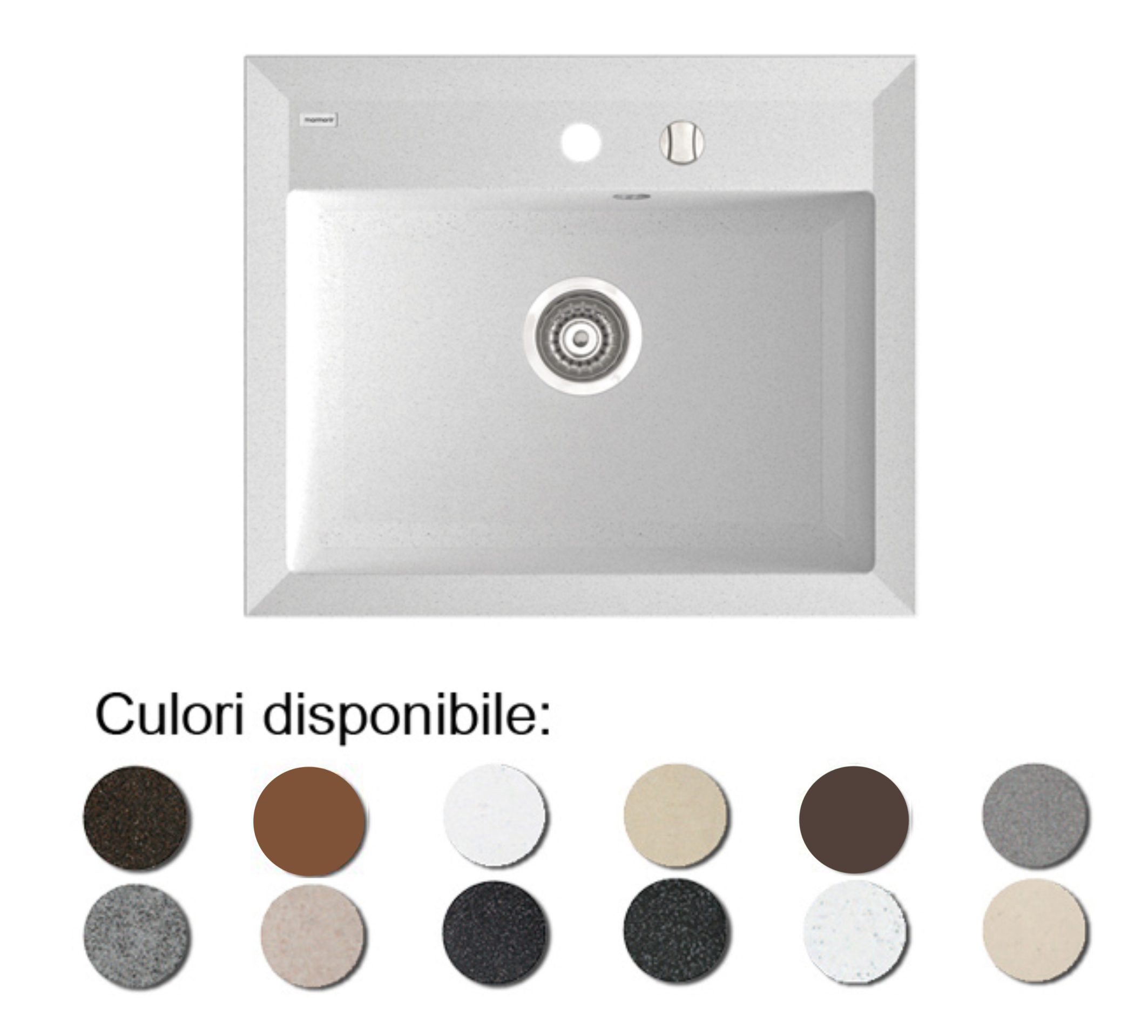 Chiuveta Bucatarie Granit Compozit Anticalcar Cuva Dreptunghiulara Poza