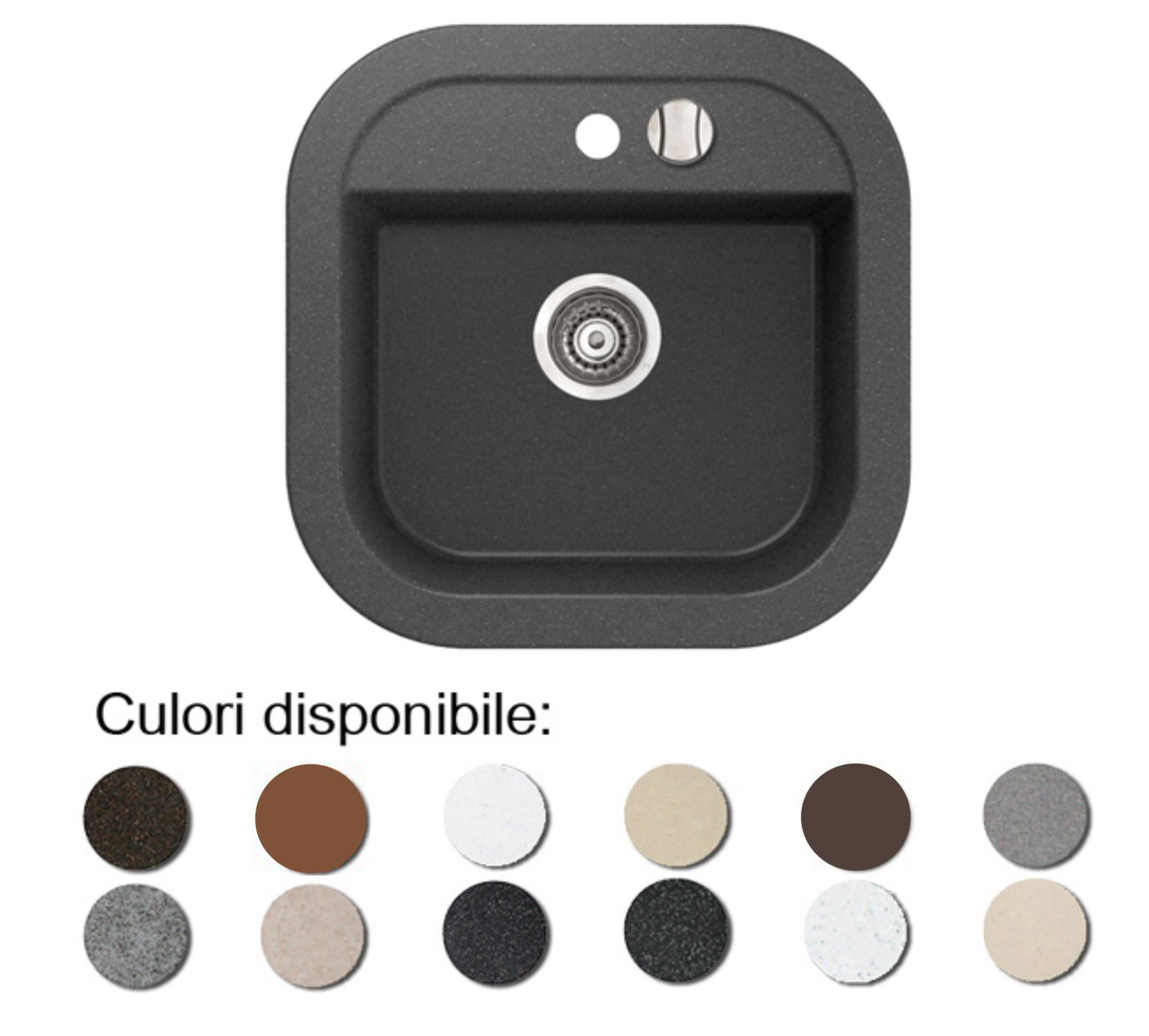 Imagine indisponibila pentru Chiuveta bucatarie granit compozit anticalcar 1 cuva patrata LAVER