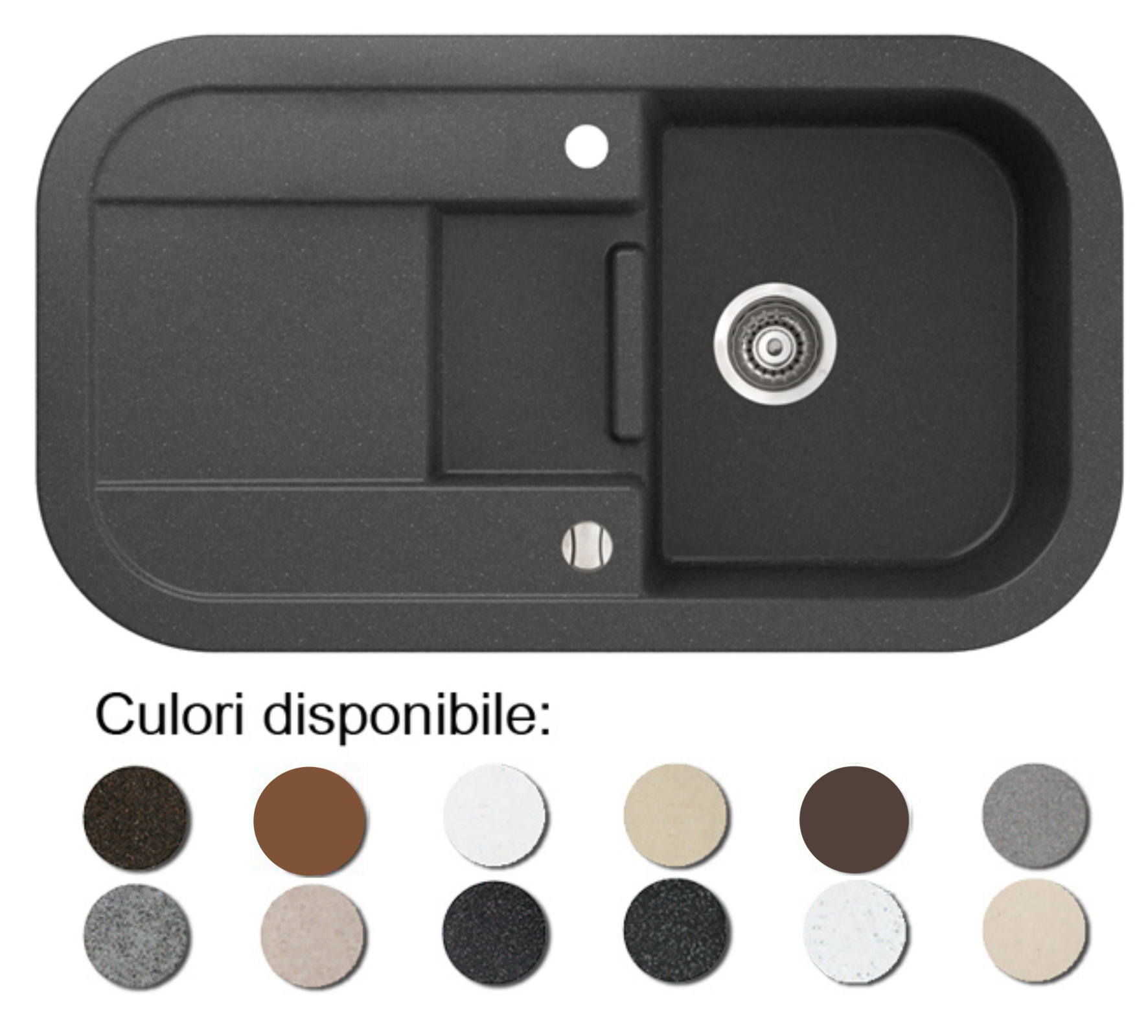 Chiuveta Bucatarie Granit Compozit Anticalcar Cuva Picurator Adanc Poza