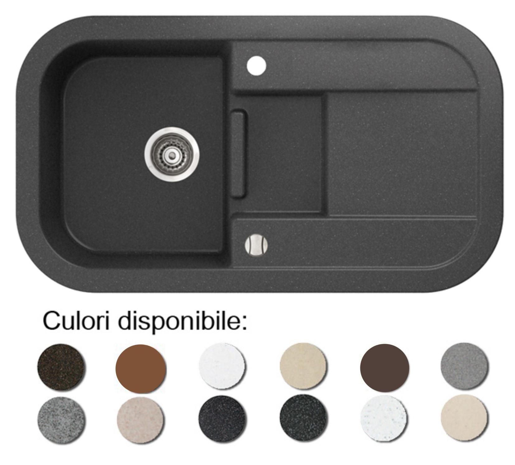 Imagine indisponibila pentru Chiuveta bucatarie granit compozit anticalcar 1 cuva si un picurator adanc LAVER
