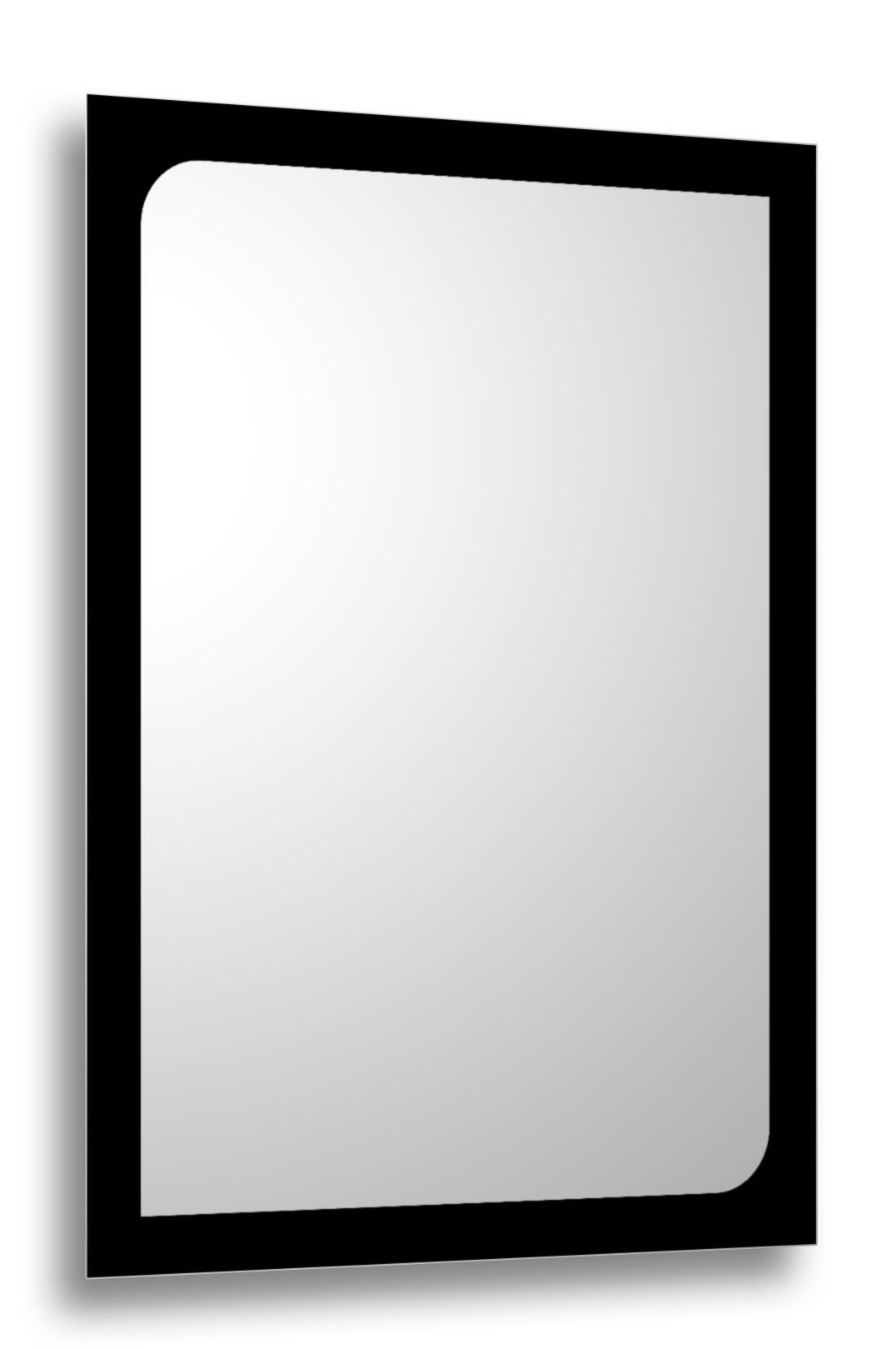 Oglinda baie cu rama printata negru Minho 80x60 cm imagine