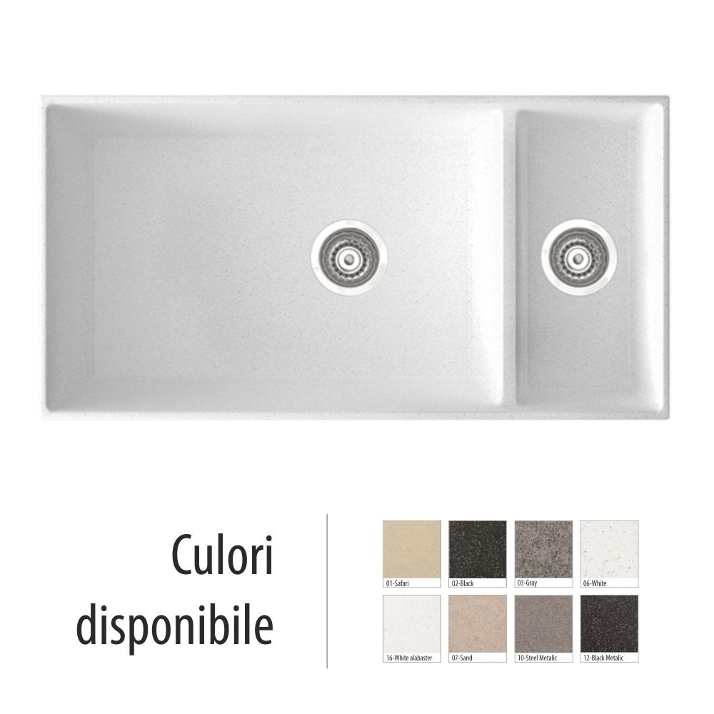 Chiuveta Bucatarie Granit Compozit Anticalcar Cuve - 5933