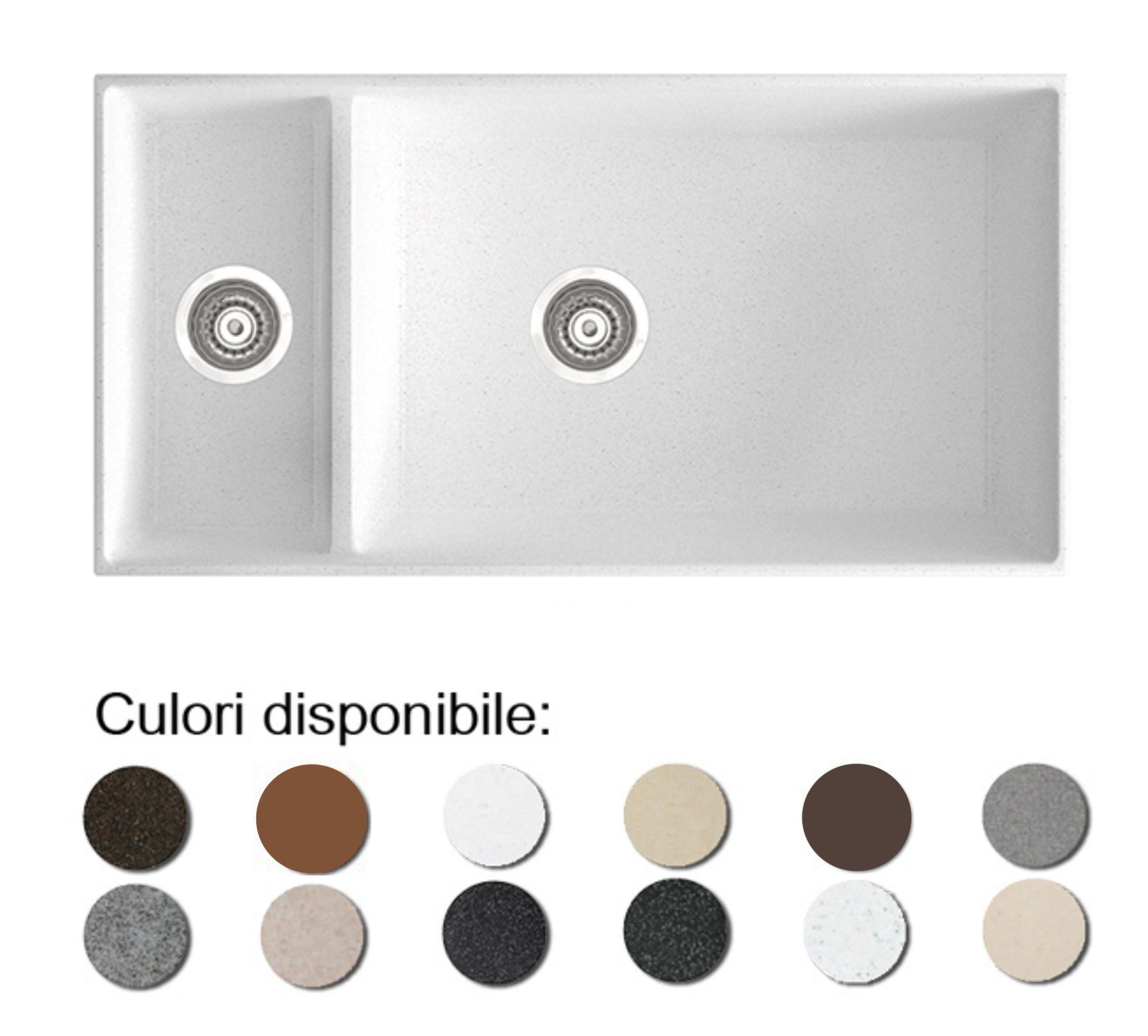 Chiuveta Bucatarie Granit Compozit Anticalcar Cuve - 6322