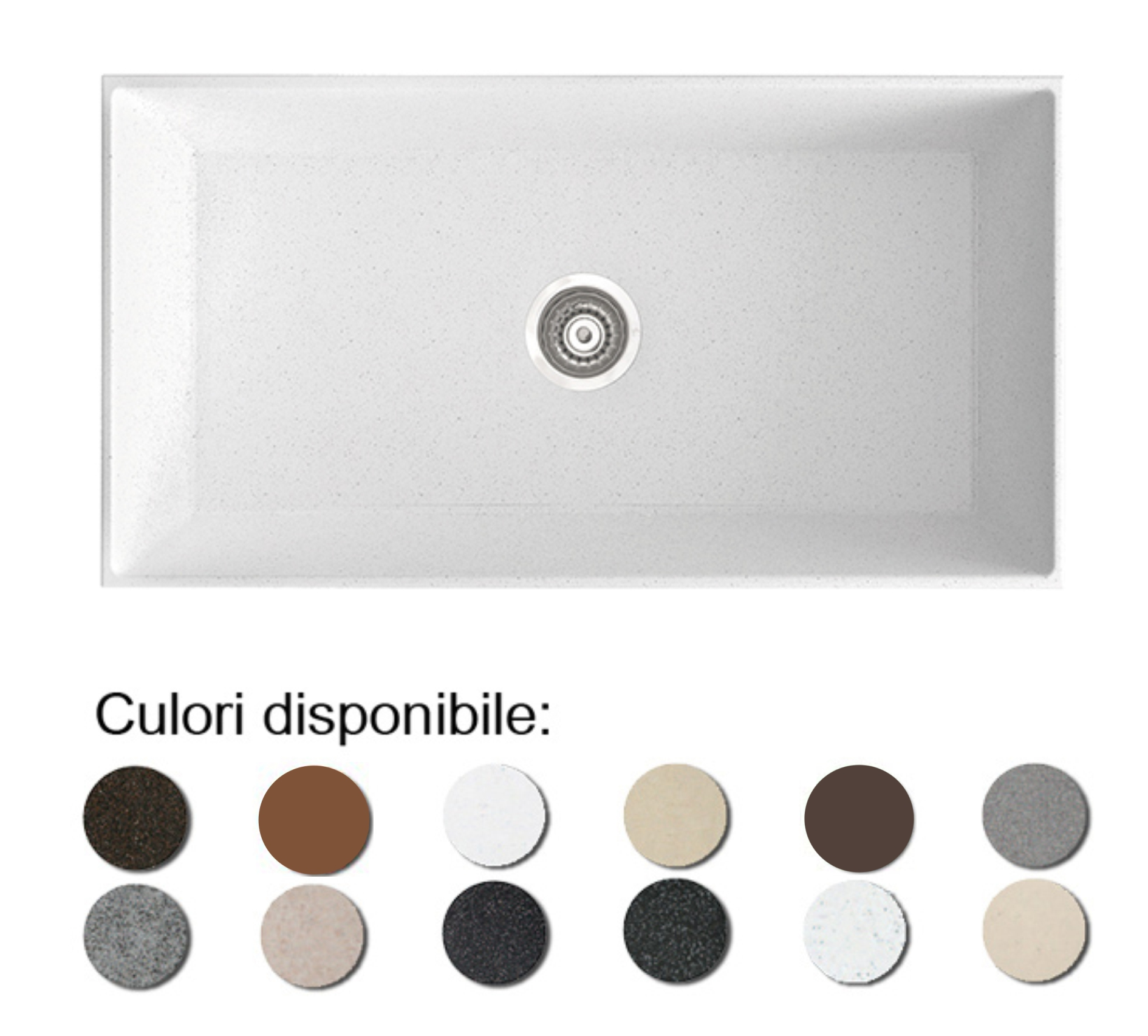 Chiuveta Bucatarie Granit Compozit Anticalcar Cuva - 6601