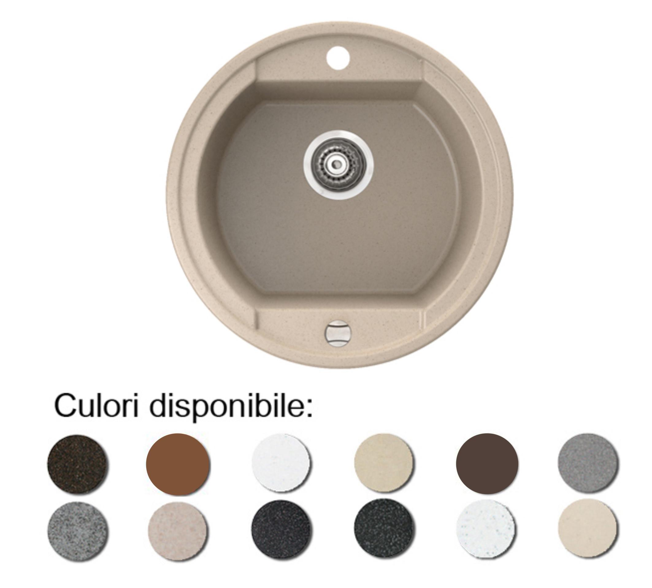Imagine indisponibila pentru Chiuveta bucatarie granit compozit anticalcar 1 cuva rotunda OTAGO