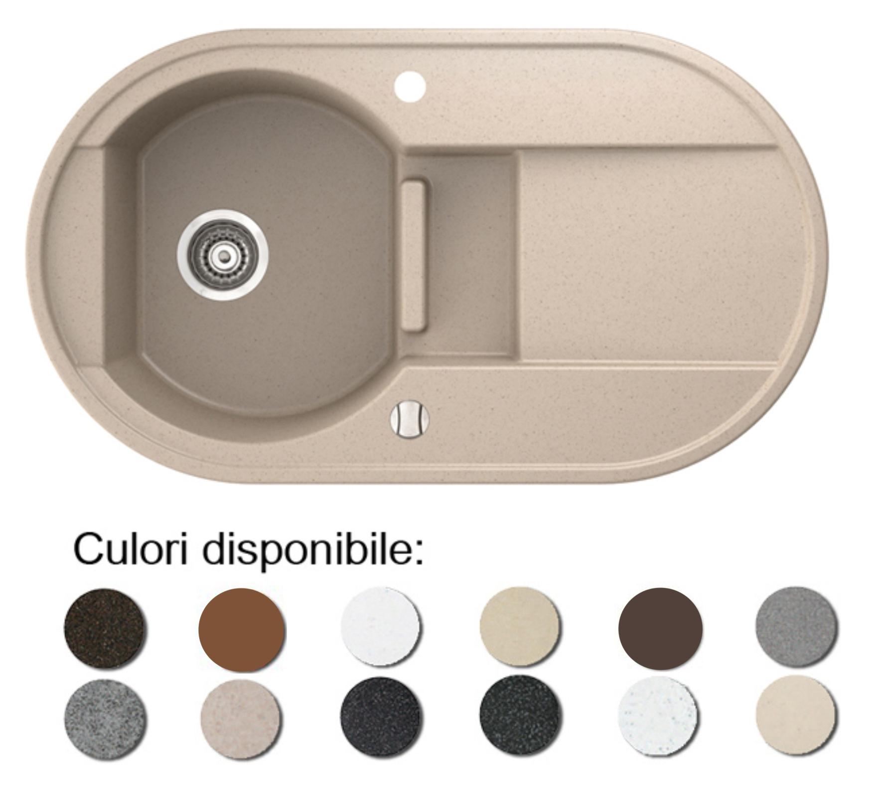 Imagine indisponibila pentru Chiuveta bucatarie granit compozit anticalcar 1 cuva si un picurator adanc OTAGO