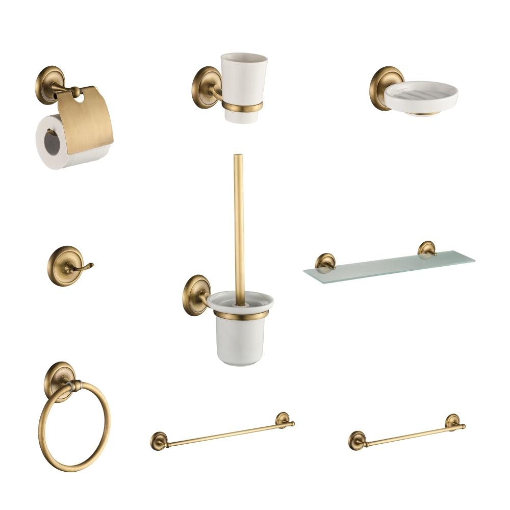 Set de accesorii pentru baie CasaBlanca EPOQUE, finisaj bronz satinat