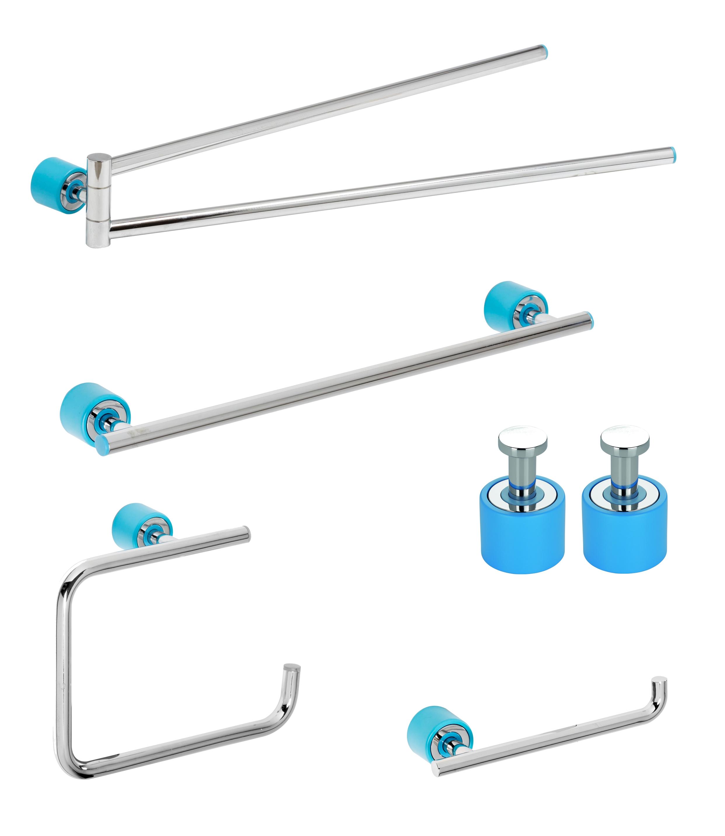 Set de accesorii pentru baie Metaform ENJOY Colour Blue