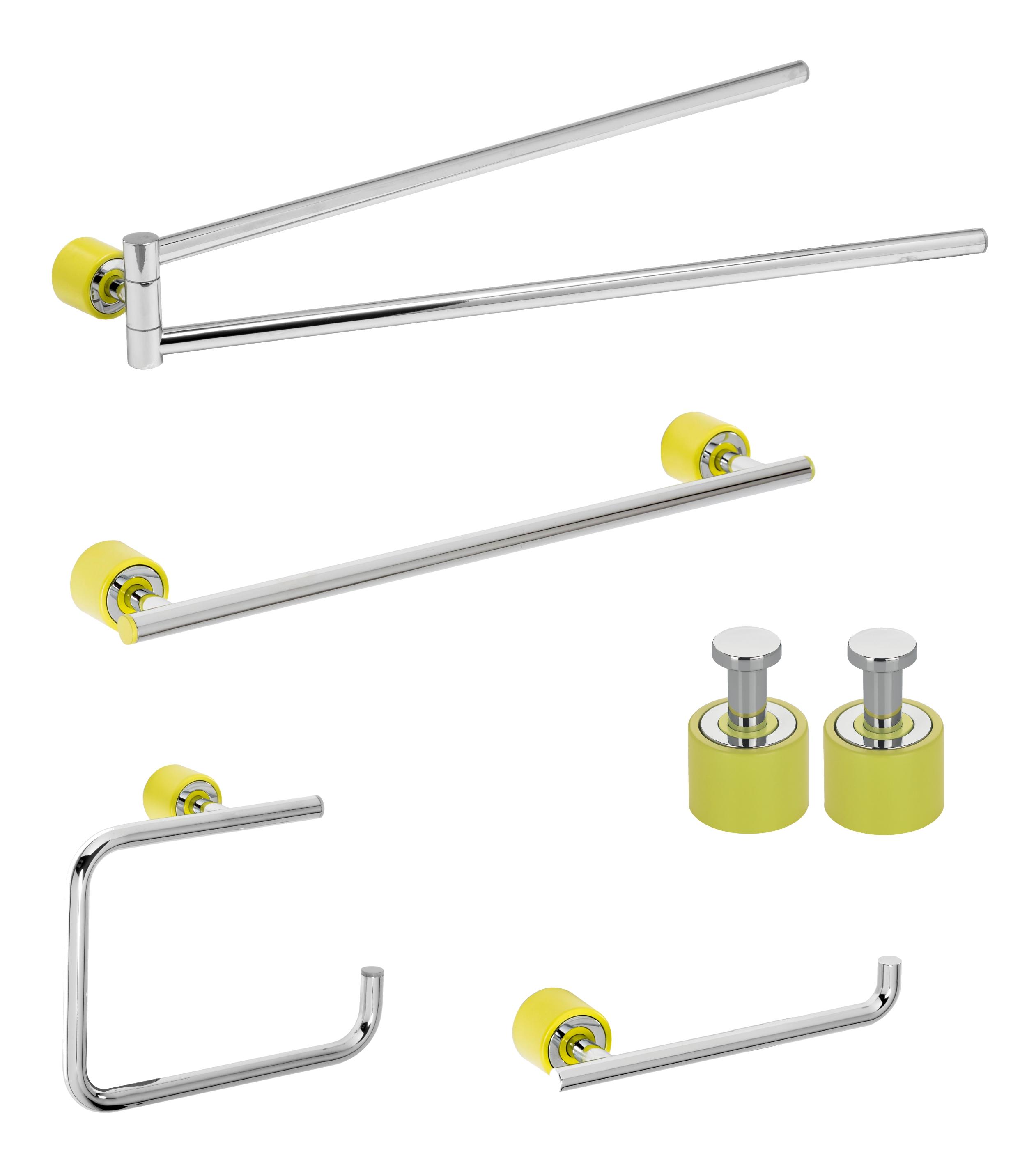 Set de accesorii pentru baie Metaform ENJOY Colour Green