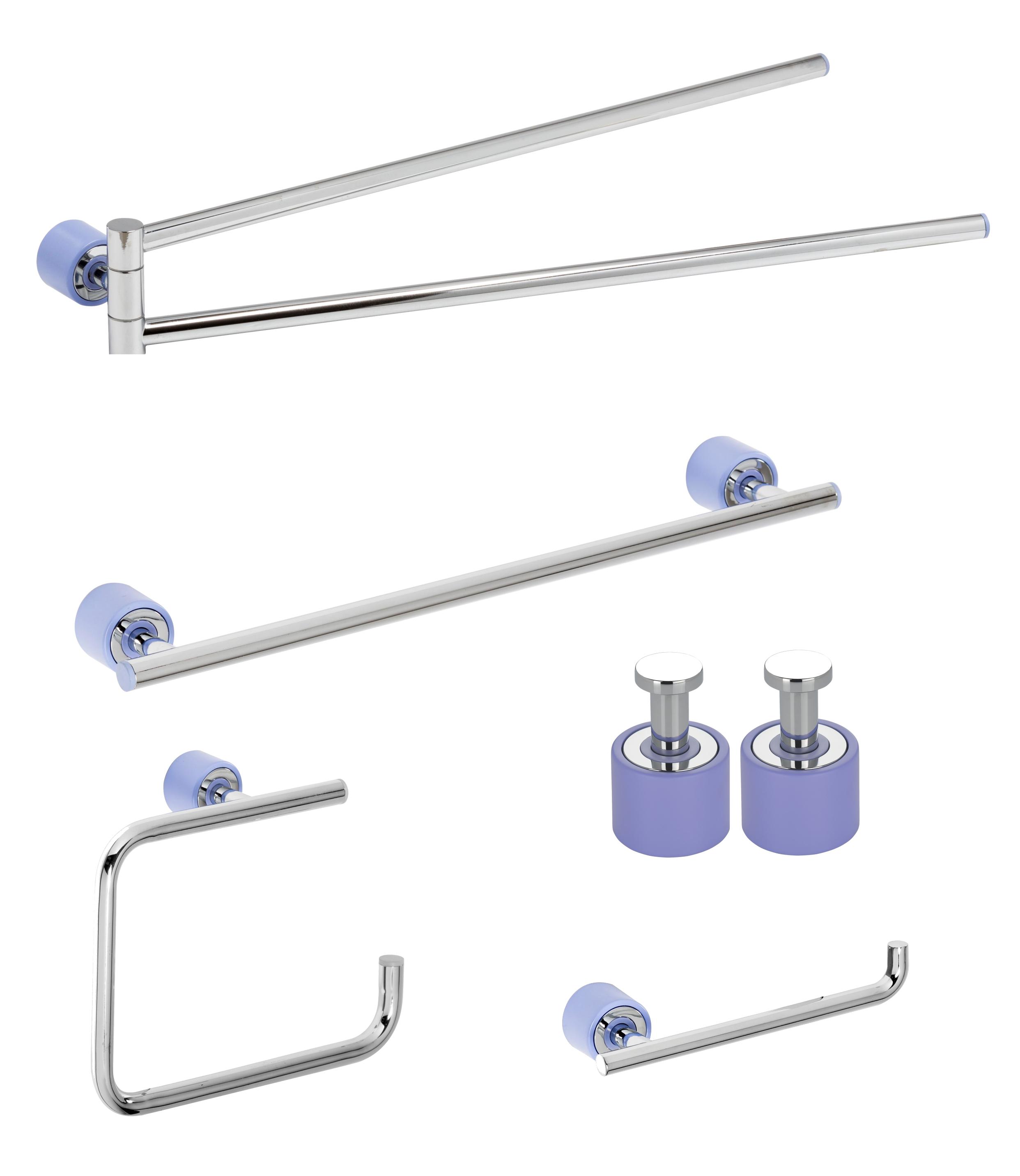 Set de accesorii pentru baie Metaform ENJOY Colour Liliac