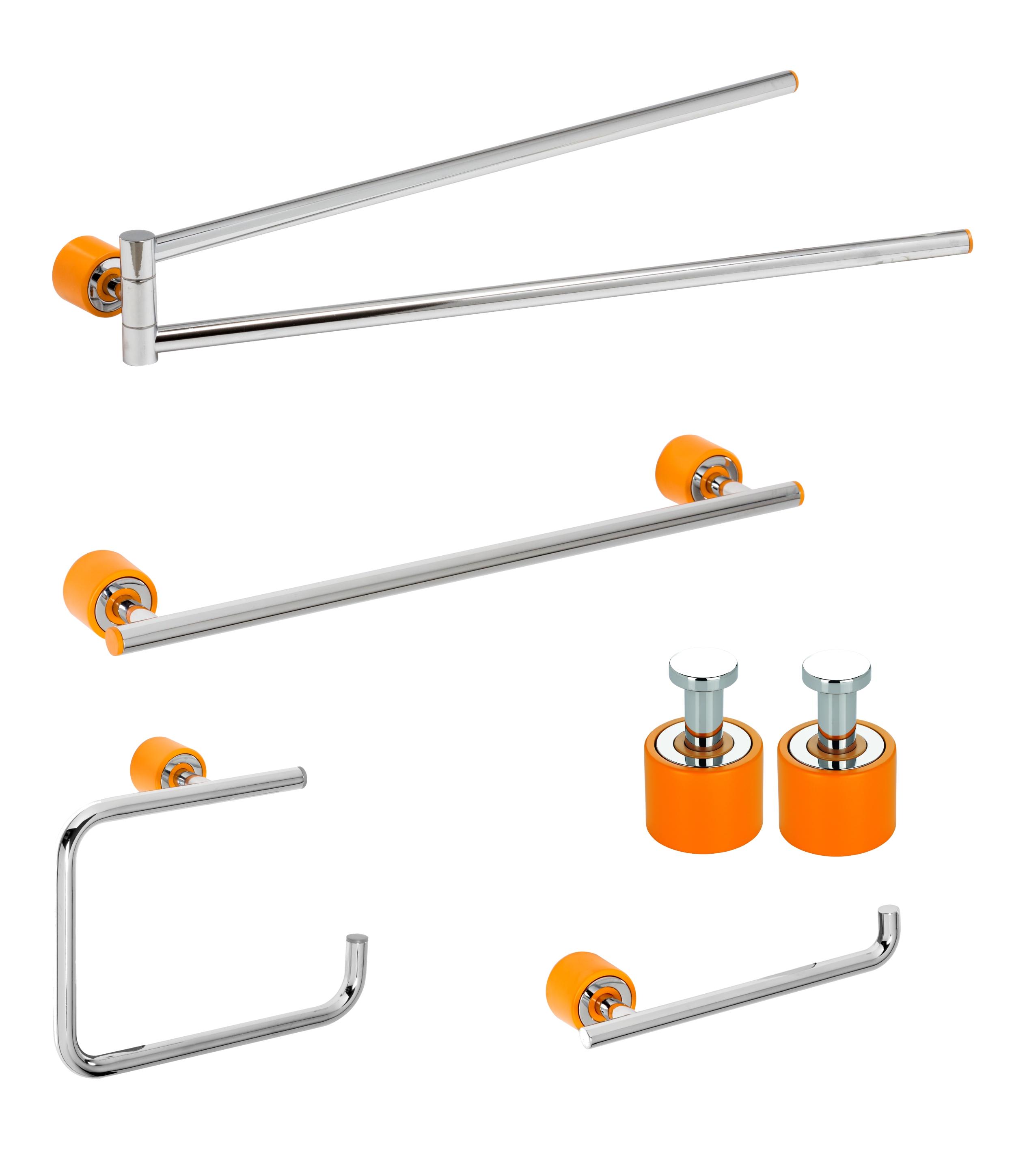 Set de accesorii pentru baie Metaform ENJOY Colour Orange