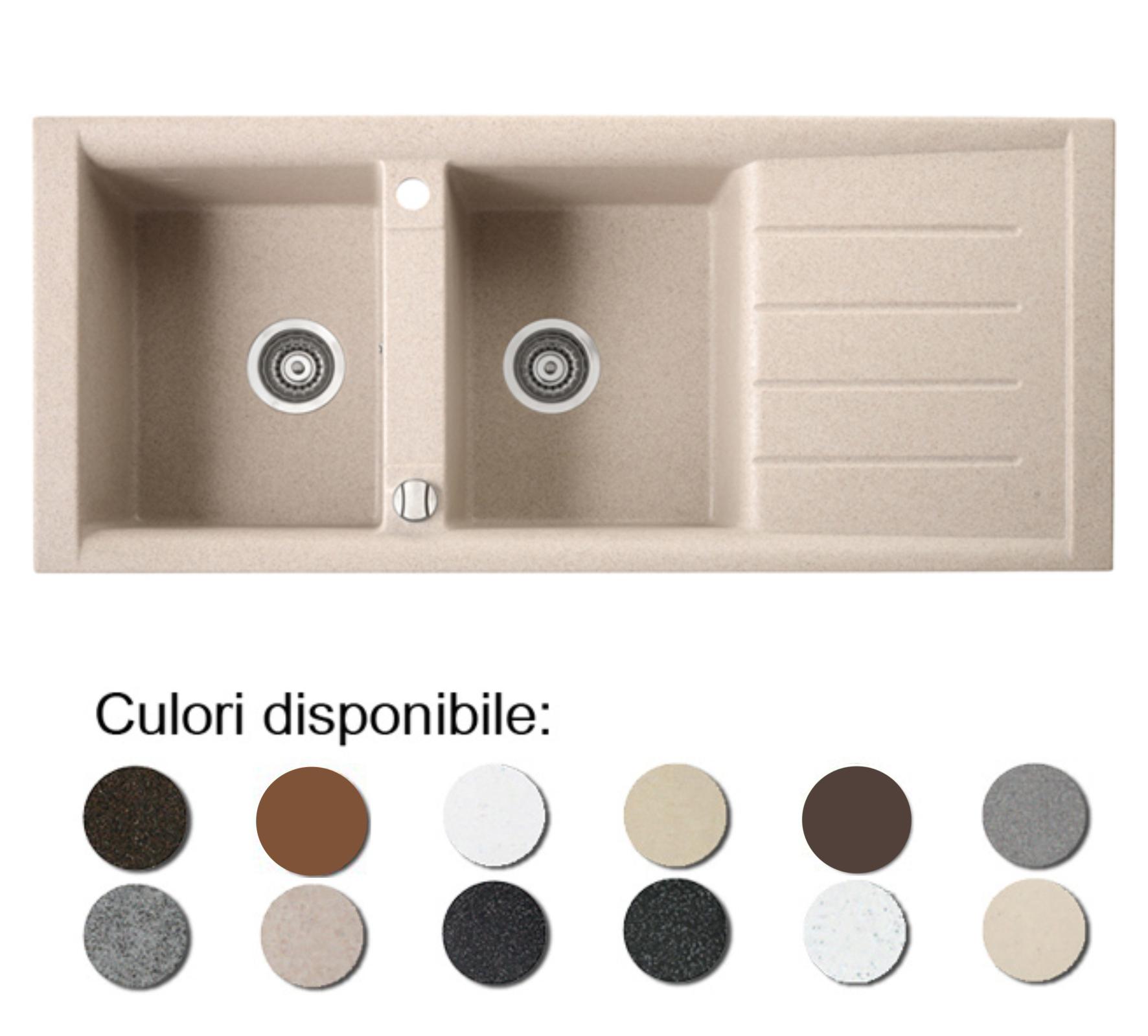 Chiuveta Bucatarie Granit Compozit Anticalcar Cuve Picurator Chiuvete Ilustratie