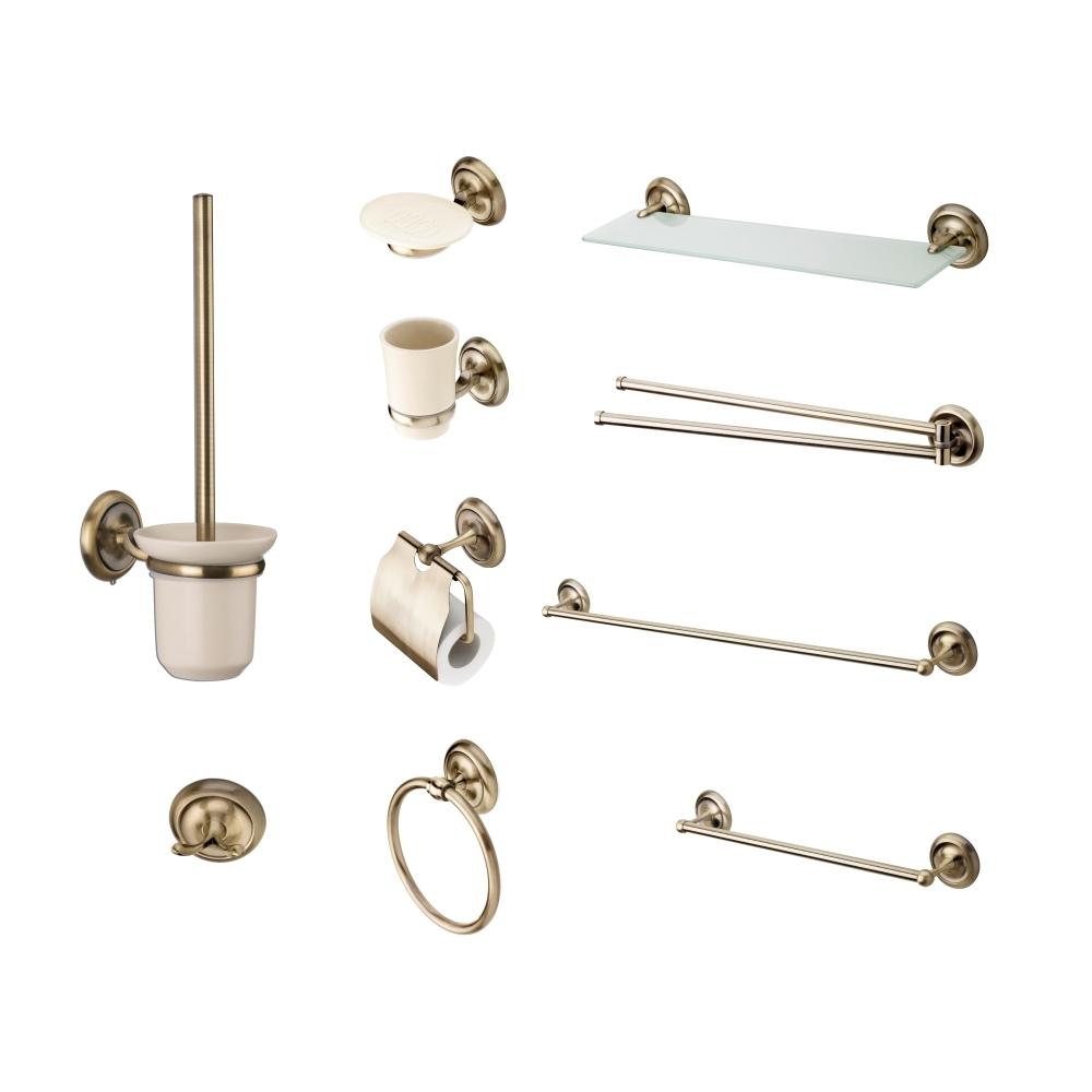 Set de accesorii pentru baie CasaBlanca RETRO,finisaj bronz lucios