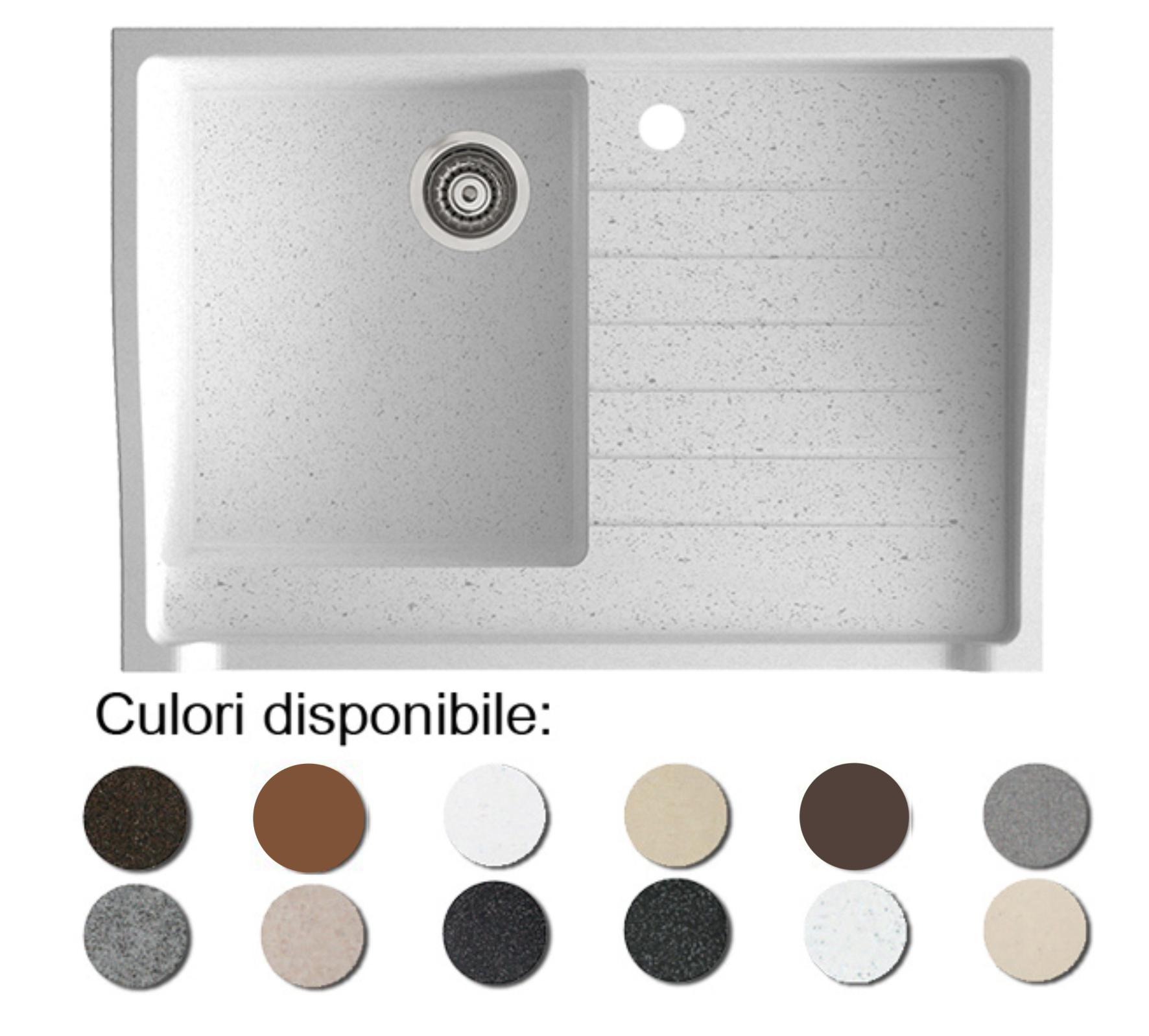 Chiuveta Bucatarie Granit Compozit Anticalcar Cuva Picurator - 5458