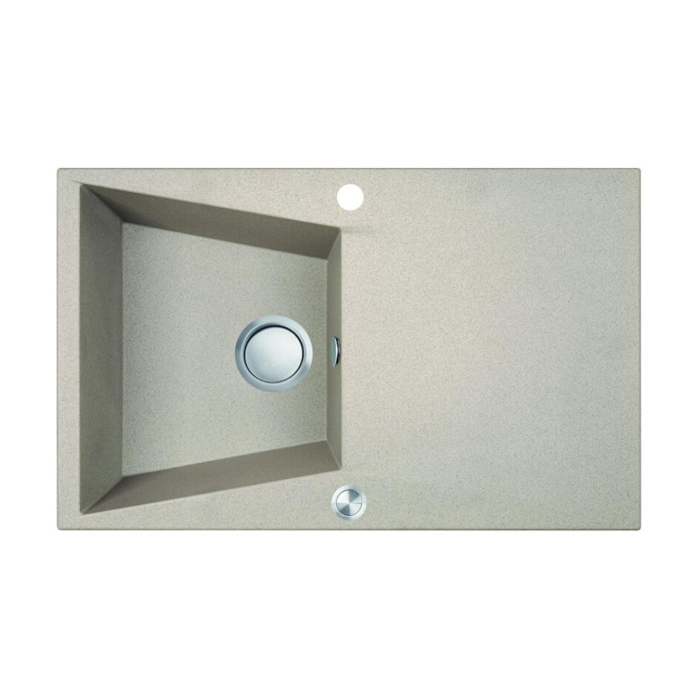 Chiuveta bucatarie granit compozit 1 cuva si picurator Laveo GRENADA, beige