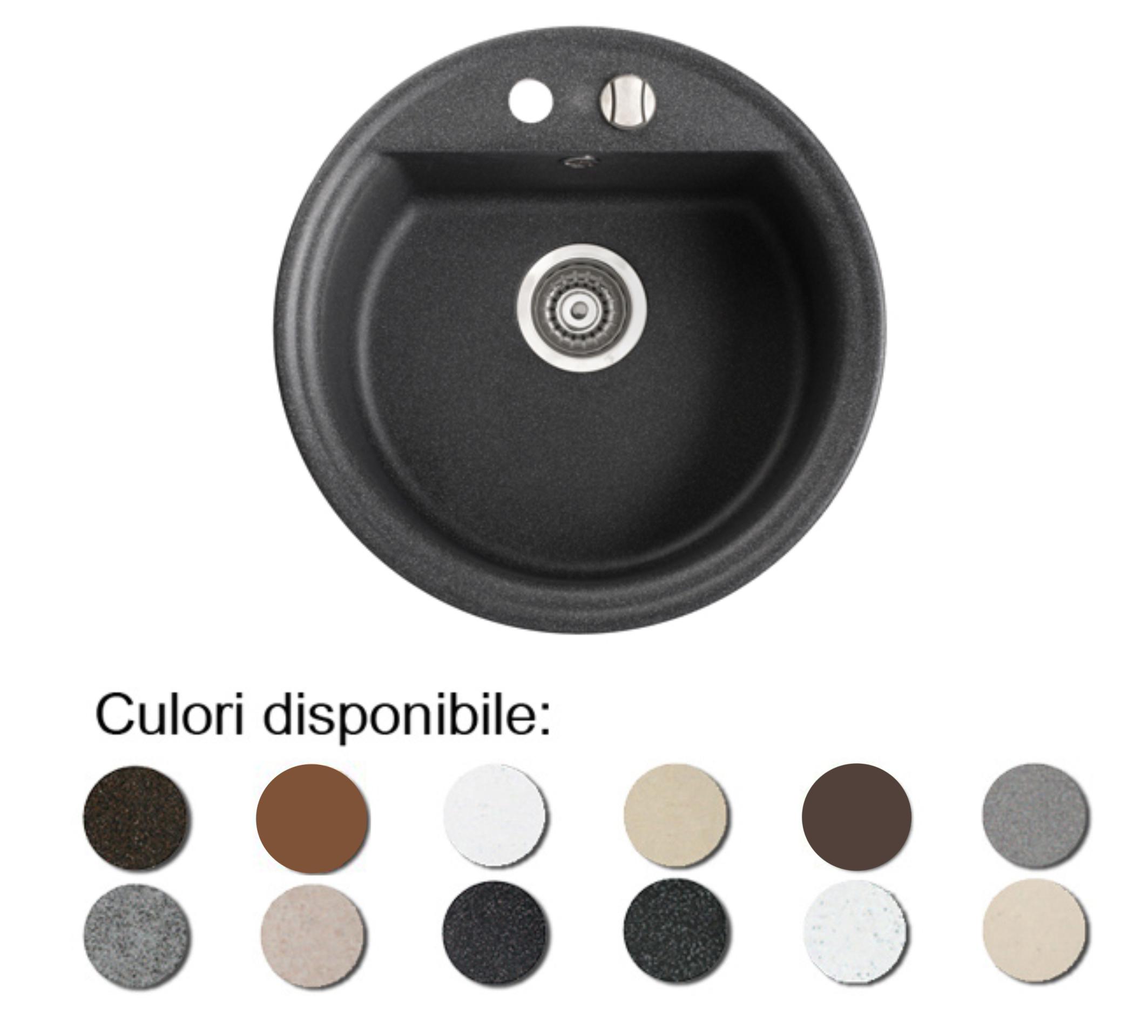 Chiuveta Bucatarie Granit Compozit Anticalcar Cuva Rotunda Imagine