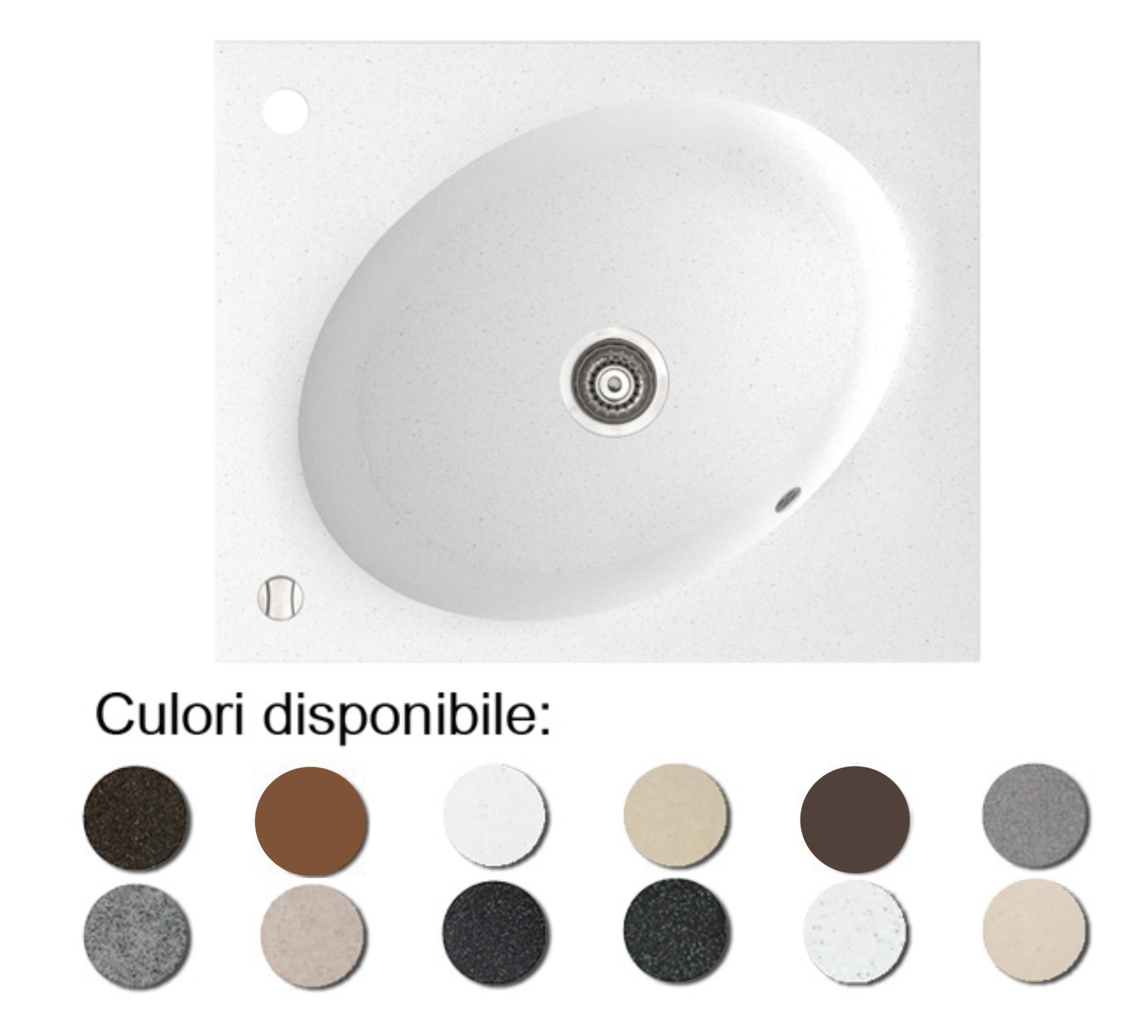 Chiuveta Bucatarie Granit Compozit Anticalcar Cuva Ovala Imagine