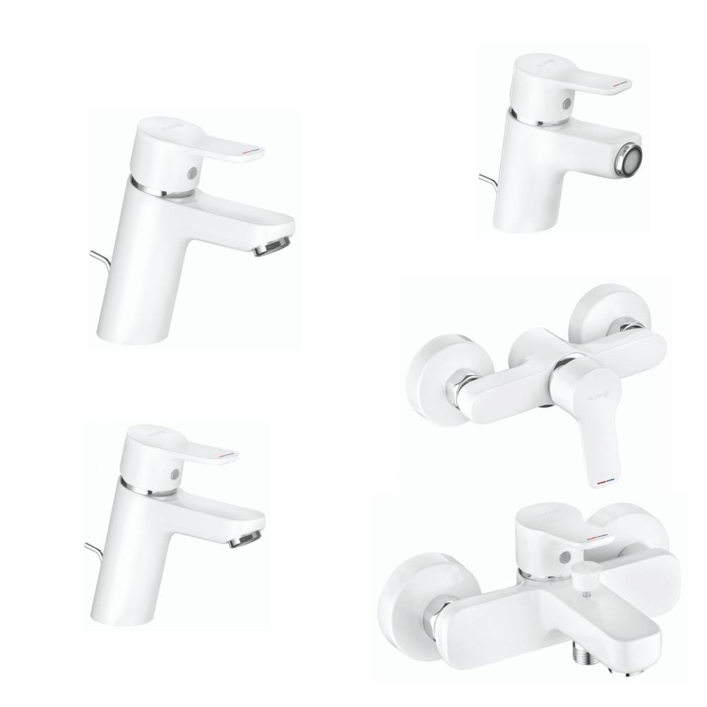 Set Baterii sanitare baie KLUDI Pure&Easy White