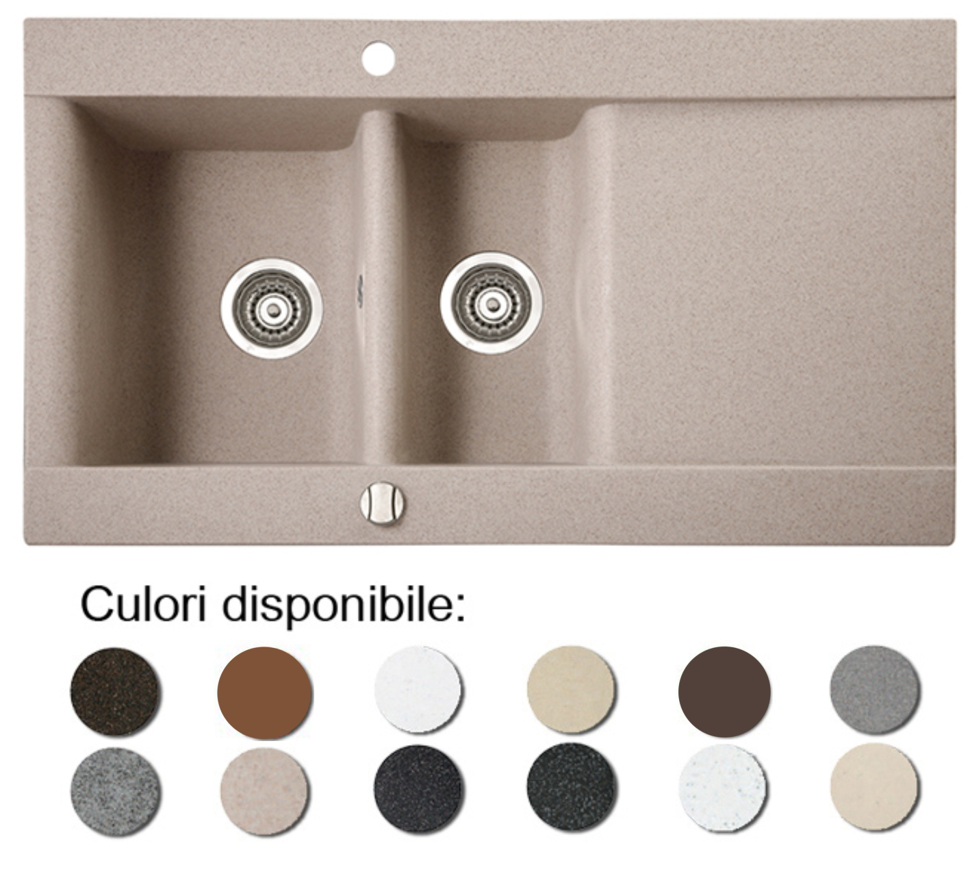 Chiuveta Bucatarie Granit Compozit Anticalcar Cuve Picurator Poza