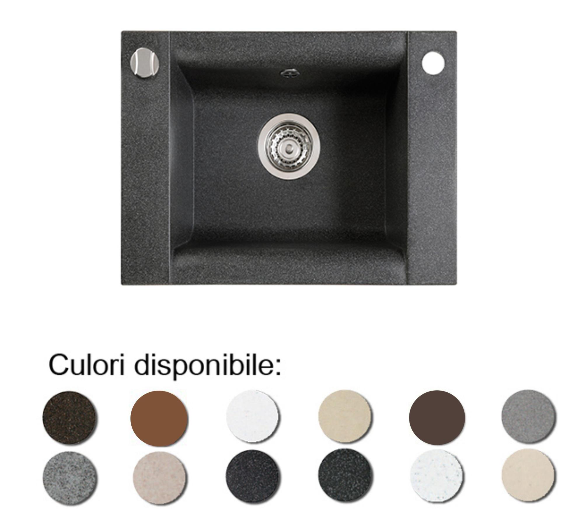 Chiuveta Bucatarie Granit Compozit Anticalcar Cuva Dreptunghiulara Ingusta Poza