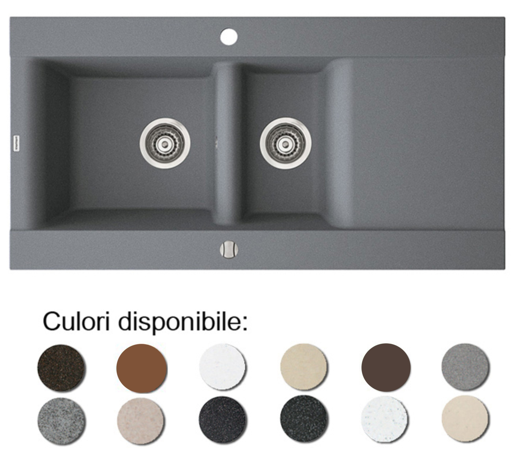 Poza Chiuveta Bucatarie Granit Compozit Anticalcar Cuve Picurator