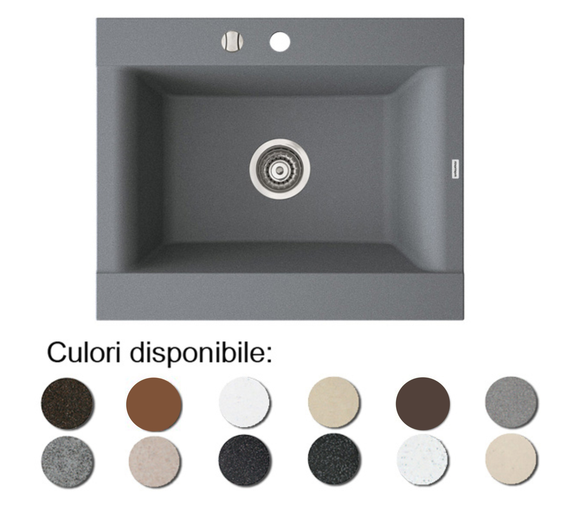 Foto Chiuveta Bucatarie Granit Compozit Anticalcar Cuva Dreptunghiulara Ingusta Spatio