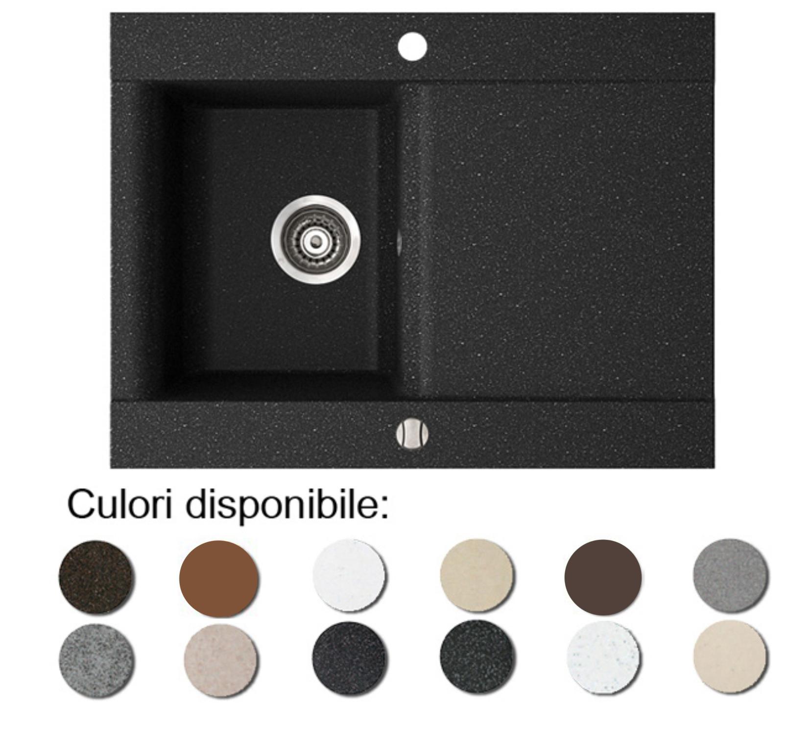 Chiuveta Bucatarie Granit Compozit Anticalcar Cuva Picurator Imagine